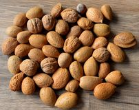 mat inramniner blandad nuts serie royaltyfri foto