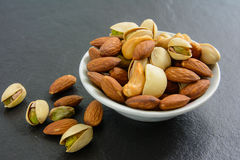 mat inramniner blandad nuts serie Royaltyfria Bilder