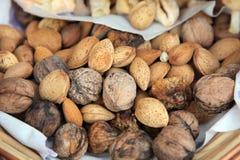 mat inramniner blandad nuts serie Royaltyfria Foton