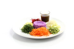 mat isolerade thai white för ricesallad Arkivbilder