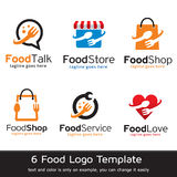 Mat Logo Template Design Vector Vektor Illustrationer