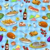 Mat mönstrar royaltyfri illustrationer