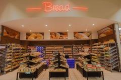 Mat marknadsför brödbagerit Arkivbilder