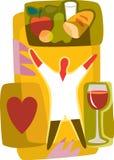 Mat och drink för hälsa Royaltyfri Illustrationer