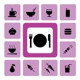 Mat och drink Icon2 Royaltyfri Fotografi