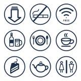 Mat- och drinkaffärssymbol Arkivfoton