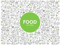Mat- och drinkmodell stock illustrationer