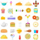 Mat- och drinkobjekt vektor illustrationer