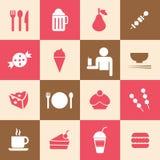 Mat- och drinksymbol Royaltyfri Fotografi