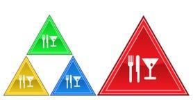 Mat- och drinksymbol, tecken, illustration Royaltyfri Foto