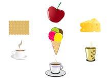 Mat- och drinksymboler Arkivfoto