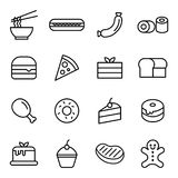 Mat- och efterrättsymbol Arkivbilder