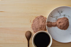 Mat- och kaffedrink royaltyfri fotografi