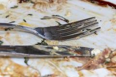 Mat på en platta royaltyfri foto