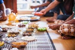 Mat på plattor Arkivfoto