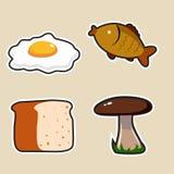 Mat Produkter för att laga mat symboler Arkivfoto