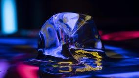 Mat?ria amarela do gelo foto de stock royalty free