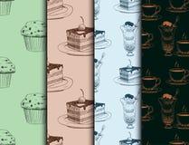 Mat skissar för menyrestaurang för vektor den naturliga kokkonst för matlagning för mål för klottret för produkten och för kök ny royaltyfri illustrationer