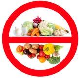 Mat som förbjudas för import in i landet arkivfoto