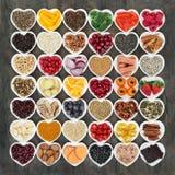 Mat som främjar hjärtahälsa arkivfoto
