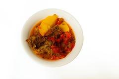 Mat som isoleras på vit bakgrund Royaltyfri Foto