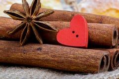 Mat som lagas mat med förälskelse inbunden vektor för valentin för daghjärtaillustration s två Arkivbild