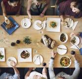 Mat som sköter om kulinariskt gourmet- partibegrepp för kokkonst royaltyfri bild