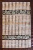 Mat - Straw texture. Wicker straw - mat weaving pattern beautiful background stock photo