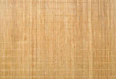 Mat Texture Background de bambu de madeira Imagem de Stock Royalty Free