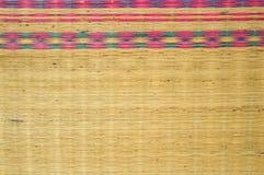 Mat thai texture background. Close up mat thai texture background stock photo