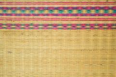 Mat thai texture background. Close up mat thai texture background stock image