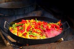 Mat till plogskivan som ?r typisk av argentinsk gastronomi royaltyfri foto