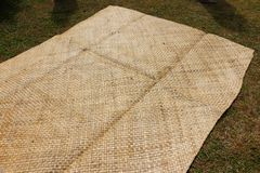 A mat in a village of Fiji stock photography