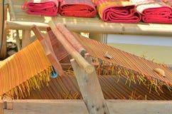 Mat weaving machine Stock Images