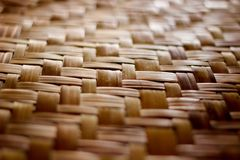 Mat with wicker pattern. stock image