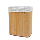 Mat wooden container covered by white textile Stock Photography
