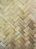 Mat of Woven Bamboo Leaves. Royalty Free Stock Photo