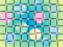 Mat woven. Mat woven with colorful balloons. Merry bright network. Woven mat with a fun pattern Stock Photography