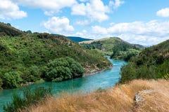 Mata-Au van de Clutharivier, Zuideneiland Nieuw Zeeland stock foto