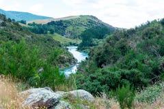Mata-Au van de Clutharivier, Zuideneiland Nieuw Zeeland stock foto's