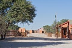 Mata Mata, przejście graniczne między Namibia i Południowa Afryka Zdjęcia Royalty Free