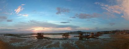 Matabungkay Batangas plaży przód Zdjęcie Stock