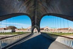 Matadero Bridge over the Manzanares River, Madrid Royalty Free Stock Photos