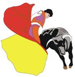 Matador illustration stock