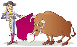 Matador and Bull Stock Image