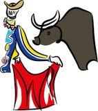 Matador and bull.Bullfighting.