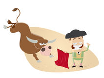 Matador and bull Stock Photos