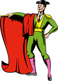 Matador or bullfighter with red cape Stock Images