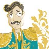 Matador. Vector Illustration. Corrida, matador with mustache Stock Photo