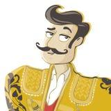 Matador. Vector Illustration. Corrida, matador with mustache Stock Images